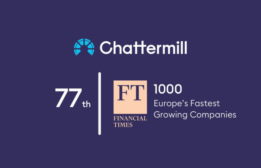 Chattermill recognised by Financial Times as the 77th fastest growing company in Europe
